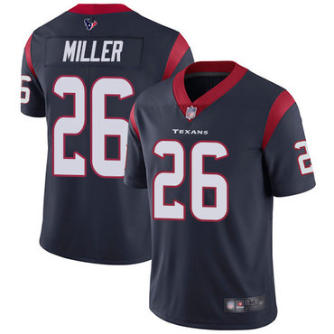 Texans #26 Lamar Miller Navy Blue Team Color Men's Stitched Football Vapor Untouchable Limited Jersey