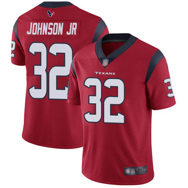 Texans #32 Lonnie Johnson Jr. Red Alternate Men's Stitched Football Vapor Untouchable Limited Jersey