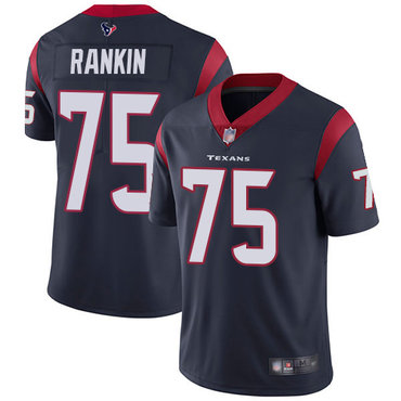 Texans #75 Martinas Rankin Navy Blue Team Color Men's Stitched Football Vapor Untouchable Limited Jersey