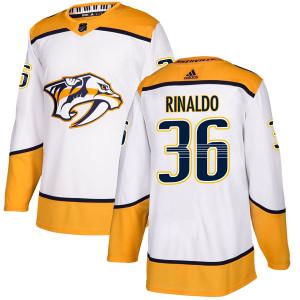Adidas #36 Zac Rinaldo Nashville Predators Men's Authentic Away White Jersey