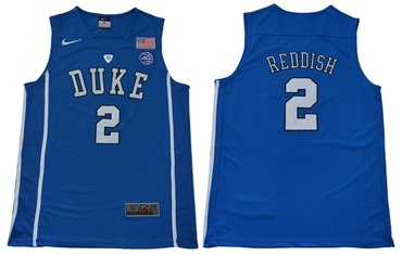 Blue Devils #2 Cameron Reddish Blue Basketball Elite Stitched College Jersey