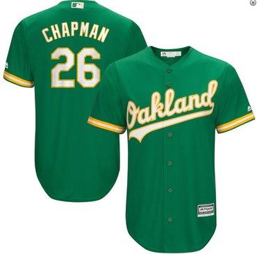 Men's Oakland Athletics #26 Matt Chapman Kelly Green Alternate Jersey