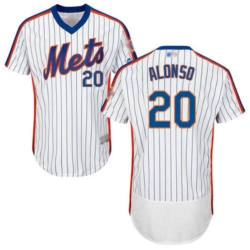Mets #20 Pete Alonso White(Blue Strip) Flexbase Authentic Collection Alternate Stitched Baseball Jersey