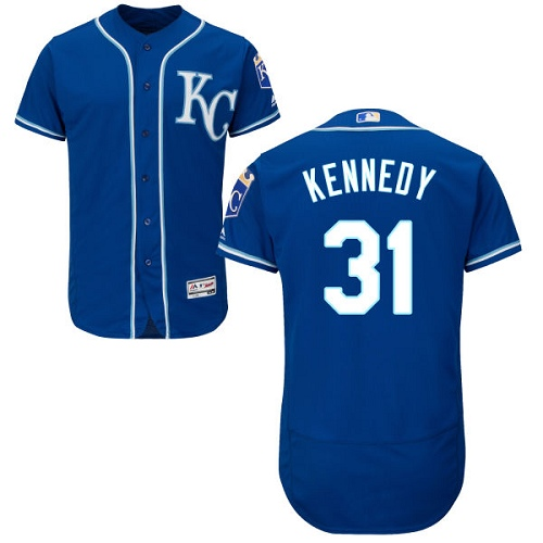 Royals #31 Ian Kennedy Royal Blue Flexbase Authentic Collection Stitched Baseball Jersey
