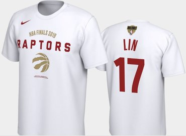 #17 Jeremy Lin Toronto Raptors Nike Player Performance T-Shirt White