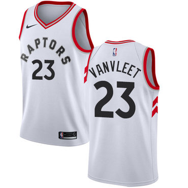 Raptors #23 Fred VanVleet White Women's Basketball Swingman Association Edition Jersey