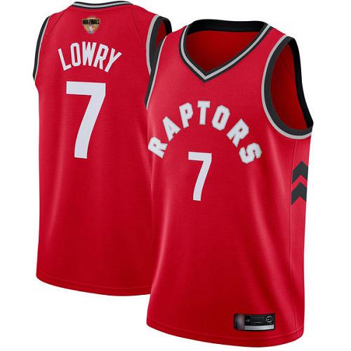 Raptors #7 Kyle Lowry Red 2019 Finals Bound Women's Basketball Swingman Icon Edition Jersey