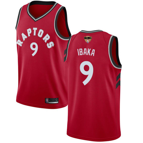Raptors #9 Serge Ibaka Red 2019 Finals Bound Women's Basketball Swingman Icon Edition Jersey