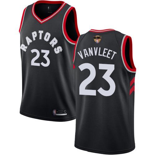 Raptors #23 Fred VanVleet Black 2019 Finals Bound Women's Basketball Swingman Statement Edition Jersey