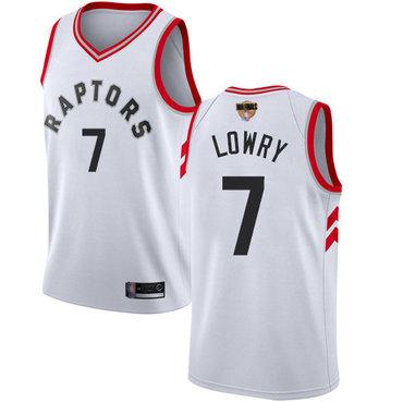 Raptors #7 Kyle Lowry White 2019 Finals Bound Women's Basketball Swingman Association Edition Jersey
