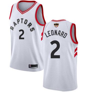 Raptors #2 Kawhi Leonard White 2019 Finals Bound Youth Basketball Swingman Association Edition Jersey