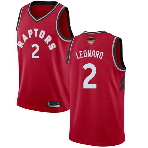 Raptors #2 Kawhi Leonard Red 2019 Finals Bound Youth Basketball Swingman Icon Edition Jersey
