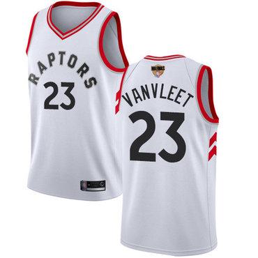 Raptors #23 Fred VanVleet White 2019 Finals Bound Youth Basketball Swingman Association Edition Jersey