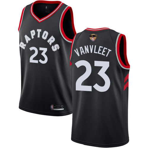 Raptors #23 Fred VanVleet Black 2019 Finals Bound Youth Basketball Swingman Statement Edition Jersey