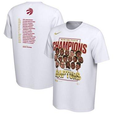 Toronto Raptors Nike 2019 NBA Finals Champions Celebration Roster Performance T-Shirt White