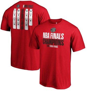 Toronto Raptors Fanatics Branded 2019 NBA Finals Champions Team Ambition Roster T-Shirt Red
