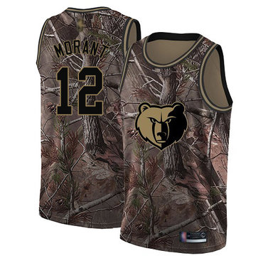 Youth Grizzlies #12 Ja Morant Camo Basketball Swingman Realtree Collection Jersey