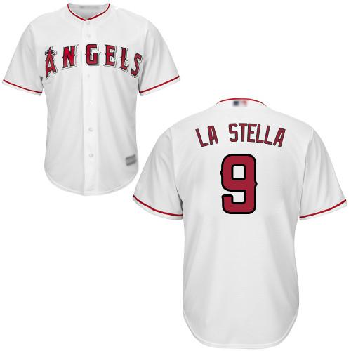 Angels of Anaheim #9 Tommy La Stella White New Cool Base Stitched Baseball Jersey