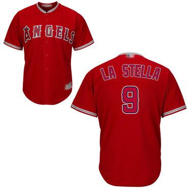 Angels of Anaheim #9 Tommy La Stella Red New Cool Base Stitched Baseball Jersey