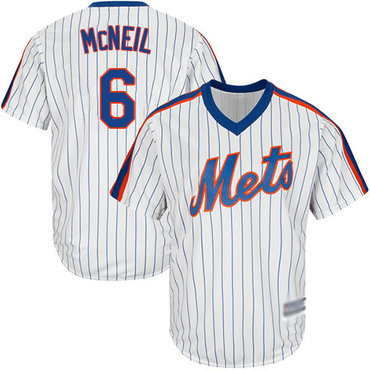 Mets #6 Jeff McNeil White(Blue Strip) New Cool Base Alternate Stitched Baseball Jersey