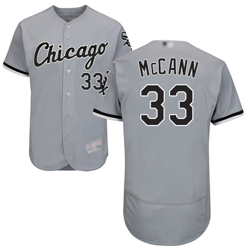 White Sox #33 James McCann Grey Flexbase Authentic Collection Stitched Baseball Jersey