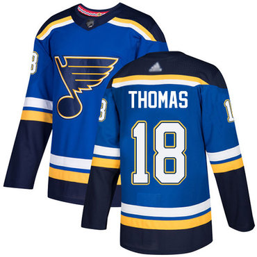 Blues #18 Robert Thomas Blue Home Authentic Stitched Hockey Jersey
