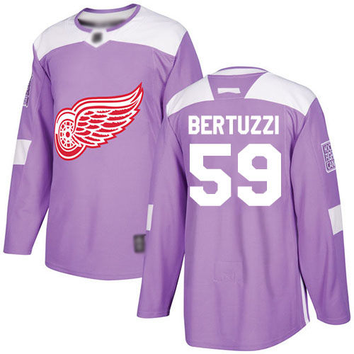 Red Wings #59 Tyler Bertuzzi Purple Authentic Fights Cancer Stitched Hockey Jersey