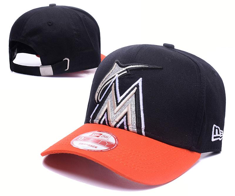 Mariners Team Logo Black Orange Adjustable Hat GS