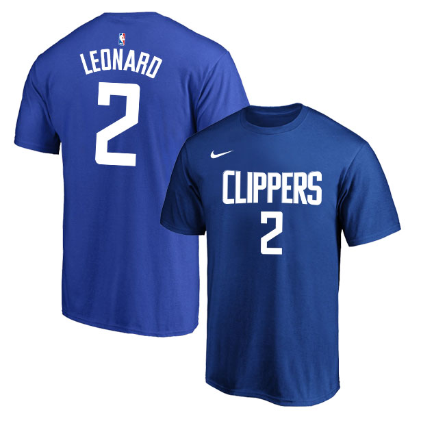 Los Angeles Clippers 2 Kawhi Leonard Blue Nike T-Shirt