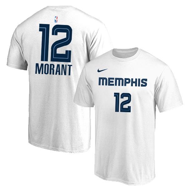 Memphis Grizzlies 12 Ja Morant White Nike T-Shirt