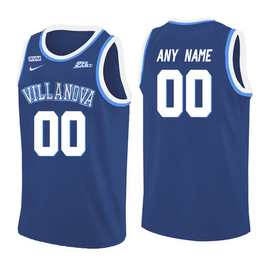 Villanova Wildcats Blue Men's Customized College Basketball Jersey