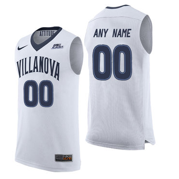 Villanova Wildcats White Men's Customized College Basketball Elite Jersey