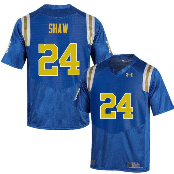 Men #24 Jay Shaw UCLA Bruins Under Armour College Football Blue Jerseys