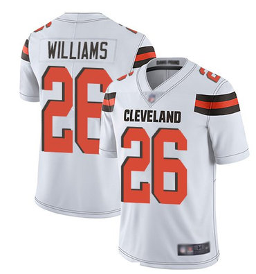 Nike Browns 26 Greedy Williams White Vapor Untouchable Limited Jersey