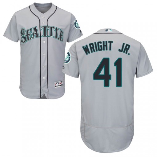 Youth Seattle Mariners #41 Mike Wright Jr. Authentic Gray Flex Base Road Collection Jersey