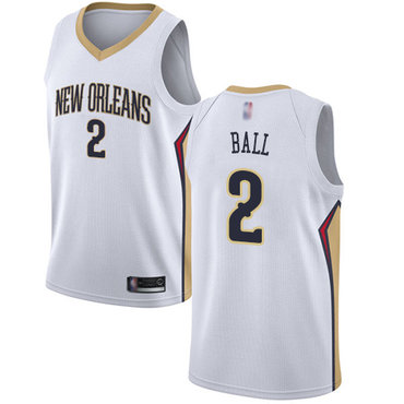 Pelicans #2 Lonzo Ball White Basketball Swingman Association Edition Jersey