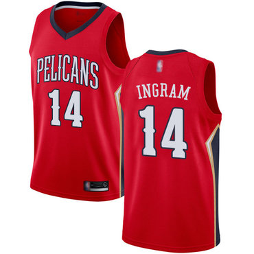 Pelicans #14 Brandon Ingram Red Basketball Swingman Statement Edition Jersey