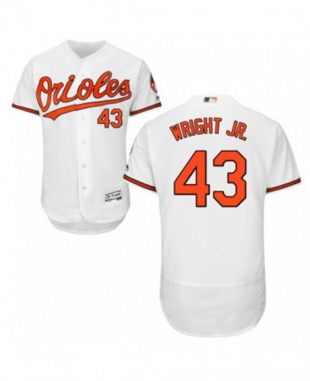 Youth Baltimore Orioles #43 Mike Wright Jr. Authentic White Home Flex Base Jersey