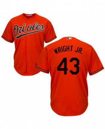 Youth Baltimore Orioles #43 Mike Wright Jr. Authentic Orange Cool Base Jersey