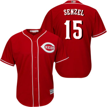 Reds #15 Nick Senzel Red New Cool Base Stitched Baseball Jersey