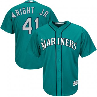Men's Authentic Seattle Mariners #41 Mike Wright Jr. Majestic Cool Base Alternate Green Jersey