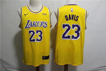 meet 4cdf9 ba854 Lakers 23 Anthony Davis Yellow Nike Swingman Jersey on sale ...