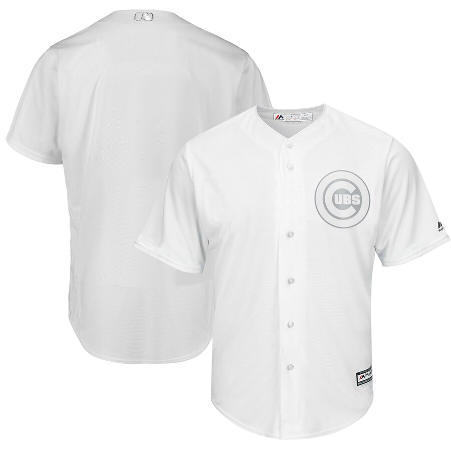 Men's Chicago Cubs Blank White 2019 Players' Weekend Player Jersey