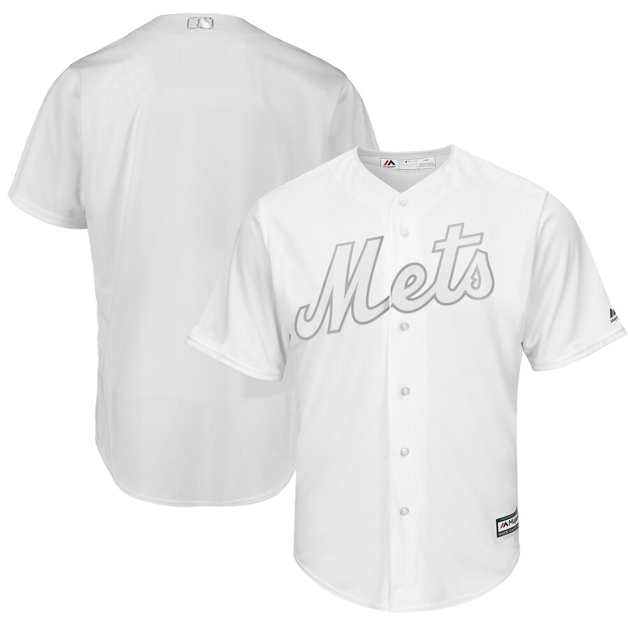 Men's New York Mets Blank White 2019 Players' Weekend Player Jersey