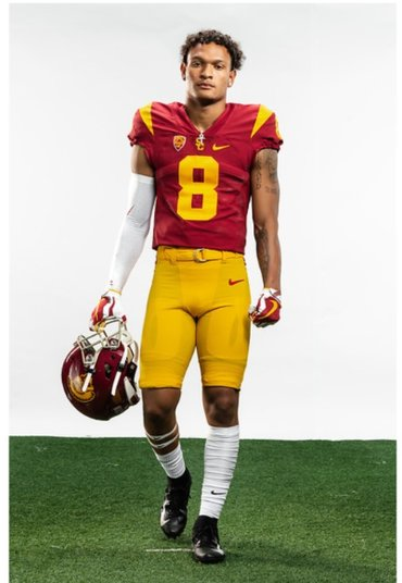 Men #8 Chris Steele  USC Trojans College Football Cardinal Jerseys