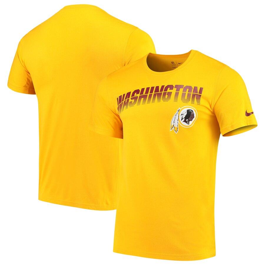Washington Redskins Nike Sideline Line of Scrimmage Legend Performance T Shirt Gold