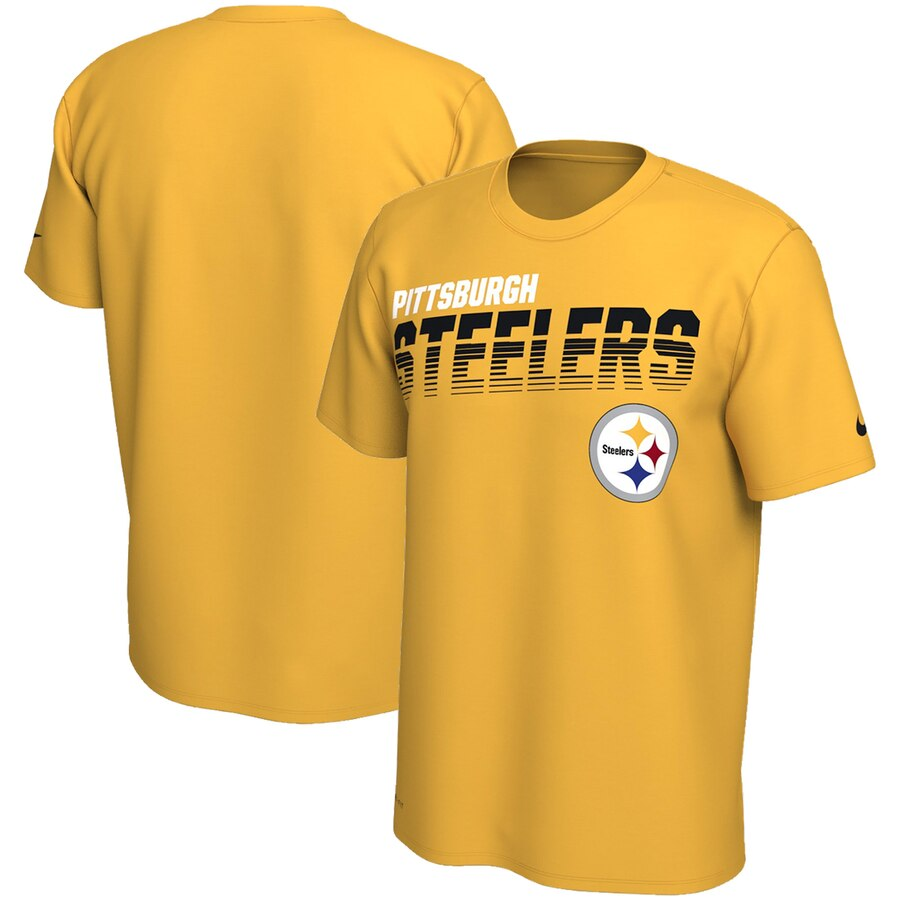 Pittsburgh Steelers Nike Sideline Line of Scrimmage Legend Performance T Shirt Gold