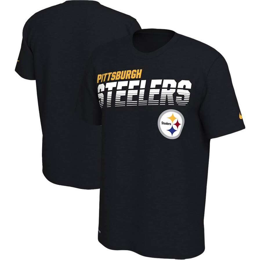 Pittsburgh Steelers Nike Sideline Line of Scrimmage Legend Performance T Shirt Black