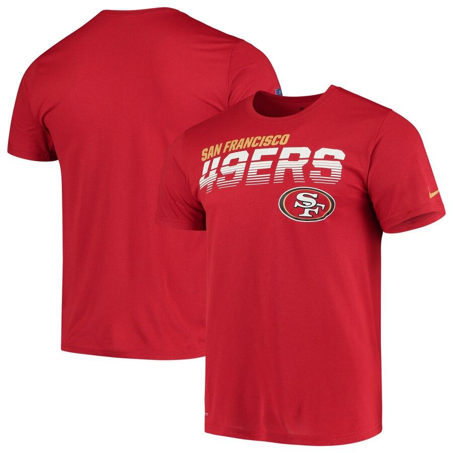 San Francisco 49ers Nike Sideline Line of Scrimmage Legend Performance T Shirt Scarlet