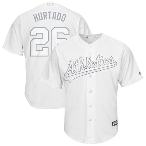 Athletics #26 Matt Chapman White Hurtado Players Weekend Cool Base Stitched Baseball Jersey